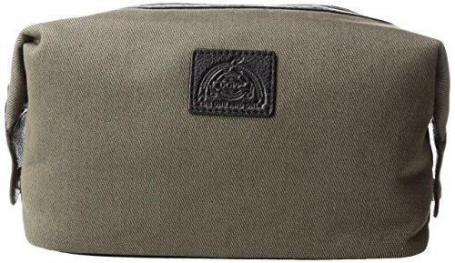 Dopp Men's Hampton Carry-All Kit-Cotton Twill with Leather Trim, Olive by Dopp