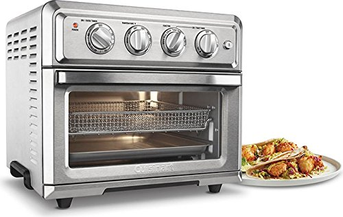 Cuisinart TOA-60 Air Fryer Toaster Oven with Light, Silver