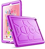 Poetic TurtleSkin New iPad 9.7 Inch 2017/2018 Cover Case with Heavy Duty Protection Silicone and Sound-Amplification Feature for Apple iPad 9.7 2017 / iPad 9.7 2018 Purple