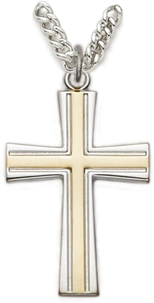 TrueFaithJewelry Sterling Silver Cross Pendant with Multiple Overlay Design 1 1//8 Inch