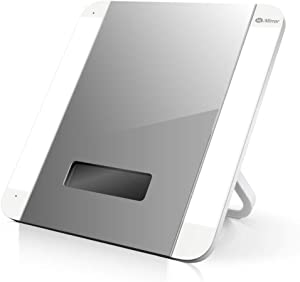 HiMirror Slide: Smart Makeup Mirror with Skin Detector, Smart Beauty Mirror with LED Lights, Vanity Mirror with Foldable Stand