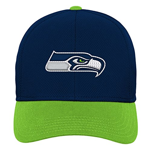NFL by Outerstuff NFL Seattle Seahawks Youth Boys Velocity Structured Snap Hat Dark Navy, Youth One Size