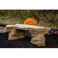 Sale Cast Stone Petrified Rock Bench Commercial Grade
