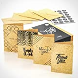 24 Thank You Cards Multipack Series 2 by Kyobo Creations | A6 Thank-You Notes with Vintage Design | Matching envelopes and Stickers Included