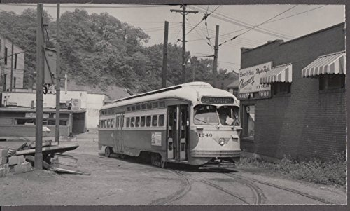 McKeesport via 2nd Avenue Line Streetcar #1740 photo 1950s Hook Pharmacy