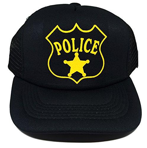 Toddler Police Officer Cop Policeman Halloween Costume Mesh Trucker Hat Cap -