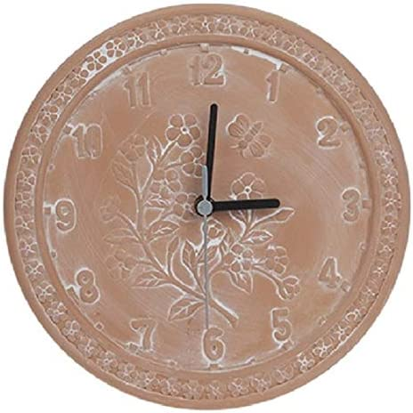 Vonline - Reloj de jardín (Terracota, 25 cm, Resistente al Agua): Amazon.es: Jardín