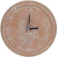 Reloj de jardín de terracota de 25,4 cm