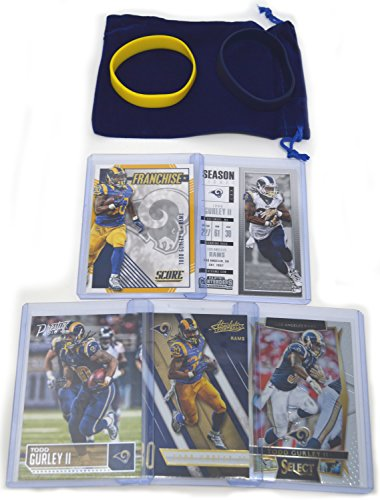 Todd Gurley II Football Cards Assorted (5) Bundle - Los Angeles Rams Trading Cards