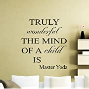 Star Wars Wall Vinyl Decal Truly Wonderful The Mind Of A Mind Jedi Master Yoda Quote Vinyl Sticker Home Teen Kids Room Nursery Art Decor Lettering Vinyl Mural (46sw)