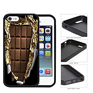Unwrapped Chocolate Bar Rubber Silicone TPU Cell Phone Case Apple iPhone 5 5s