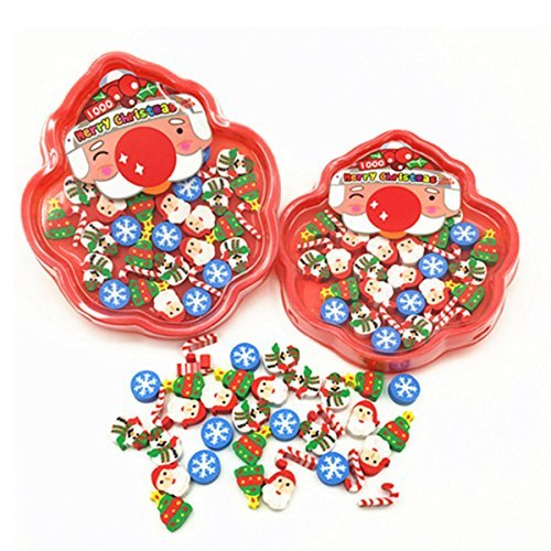 Christmas Erasers For Holiday, 120+ Pcs, Amazing Kids Students Gift, Party Prizes Favors, 3 Box