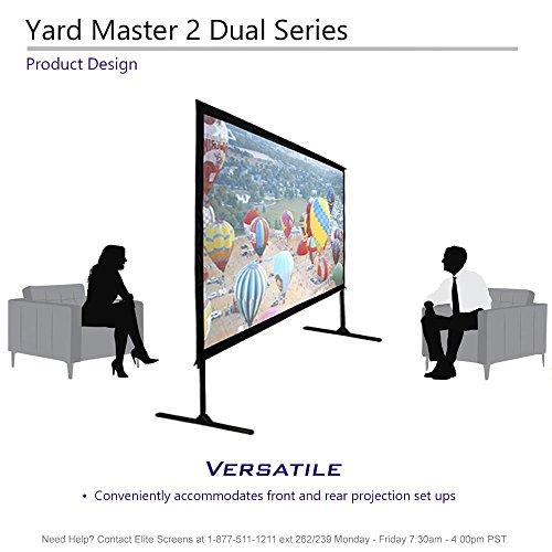 Elite Screens Yardmaster DUAL, Projection, Active Indoor/Outdoor