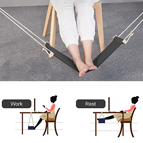 Foot Hammock, Togather Portable Footrest Mini Office Foot Rest Stand Desk Relaxing Tool by Togather