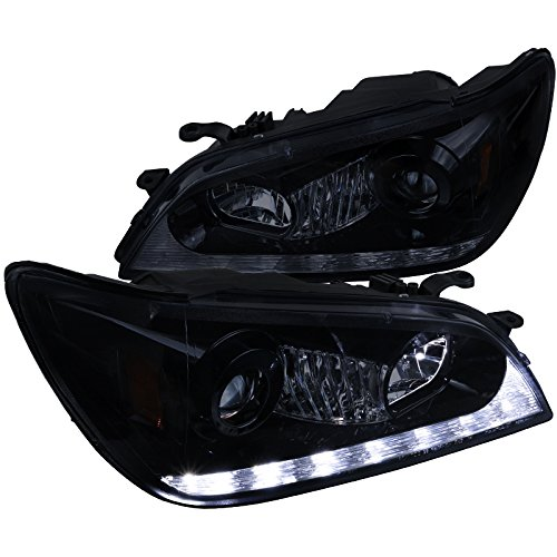 (Spec-D Tuning 2LHP-IS30001G-TM Black Projector Headlight (Glossy With Led) )