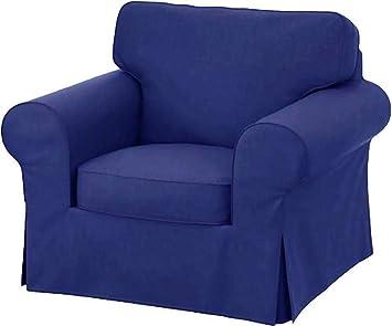 Pleasing Hometown Market Sofa Covers Custom Made For Ikea Ektorp Armchair Slipcovers Polyester Flax Blue Ektorp Chair Creativecarmelina Interior Chair Design Creativecarmelinacom