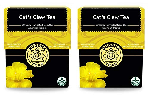 Buddha Teas Natural Cat's Claw Tea (Pack of 2) With Antioxidant Properties and to help Promote a Healthy Gut, 18 Count Each ()
