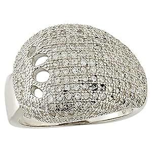 Aurora Women's Silver White Ring