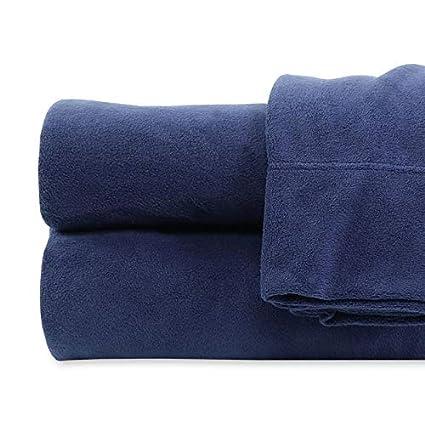 Amazon Com Queen Size Light Blue Life Comfort Fleece 6 Piece Sheet