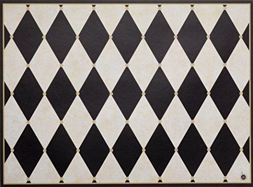 di Potter CH113 Paris Design Reversible Paper Placemat, Parchment and Black, 12