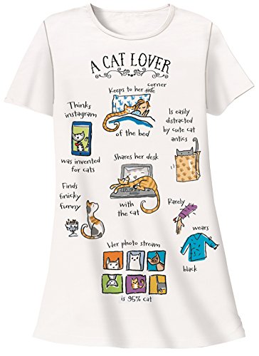 Cat Nightshirt - Nightshirt - A Cat Lover, One Size