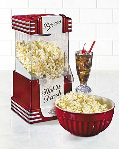 082677136251 - Nostalgia RHP625 Retro Series 12-Cup Hot Air Popcorn Maker carousel main 1