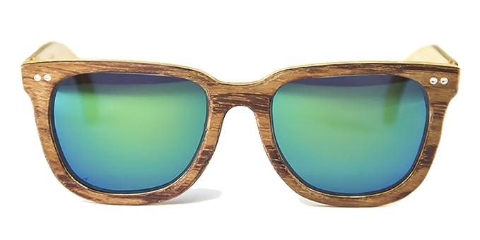 Gafas de madera Charles Bubinga Lente Verde Espejo - FELER ...