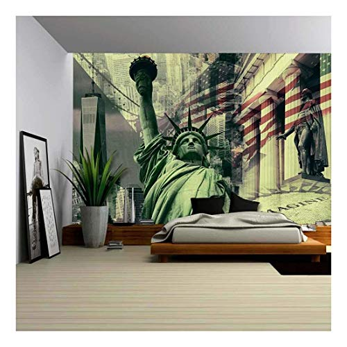 New York City United States of America Decorative Collage Containing Several New York Landmarks