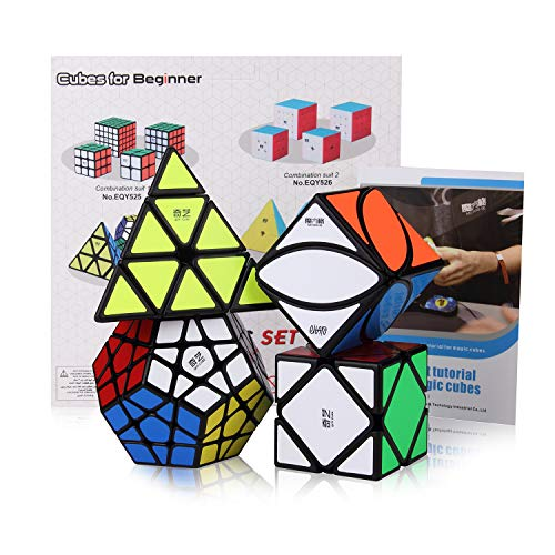 ROXENDA Speed Cube Bundle, Magic Cube Set of Megaminx Pyramid Skew Ivy Speed Puzzle Cube with Gift Box, Secret Tutorial for Speed Cubes best to buy