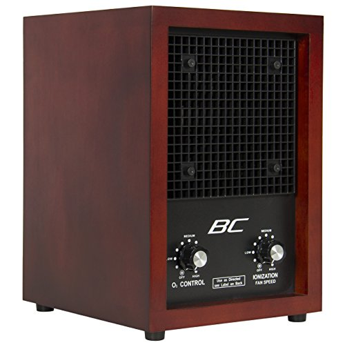 (Best Choice Products Living Home Office Ionic Air Purifier Ozone Ionizer Cleaner for Fresh Clean Air - Brown)