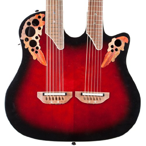Ovation Celebrity Collection 6 String Electric Guitar, Right Handed, Ruby Red Burst (CSE225-RRB)