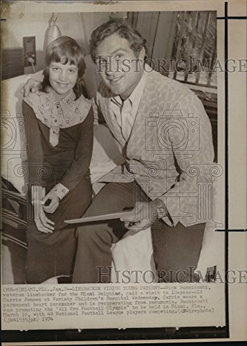 (Vintage Photos 1974 Press Photo Nick Buaniconti Linebacker Miami Dolphins from A Newspaper Archive)