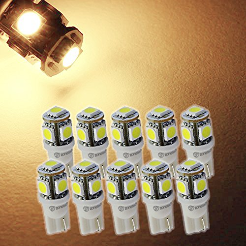 Zone Tech 10x WARM WHITE High Power LED Car Lights Bulb
