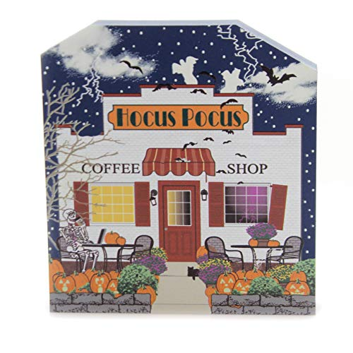 CATS MEOW VILLAGE Hocus Pocus Coffee Shop Wood Halloween 18631]()
