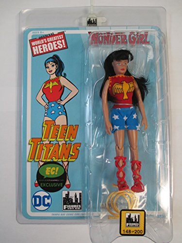 Silver Age Wonder Girl 8 Inch Retro Figure (Classic Teen Titans) - Emerald City Comics and Tampa Bay Comic Con 2017 Exclusive Variant individually numbered to 200 -