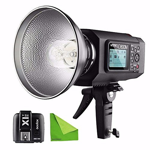 EACHSHOT AD600M Manual Version HSS 1/8000s 600W GN87 Outdoor Flash Light (Godox Mount) with Lithium Battery 8700mAh + X1T-S Wireless Trigger For Sony With EACHSHOT Cleaning Cloth by EACHSHOT