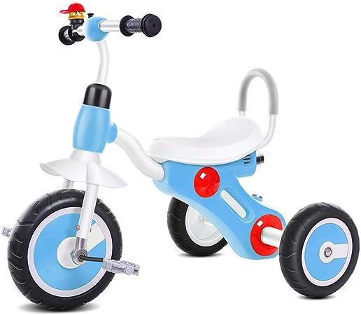 Bicicleta de Acero con Alto Contenido de Carbono para triciclos de niños Bicicleta para niños de 2-5 años con música e iluminación (Color : Azul): Amazon.es: Hogar