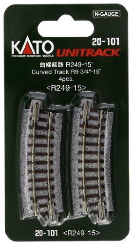Scale Kato Unitrack Track Curved - Kato USA Model Train Products Unitrack, 249mm (9 3/4