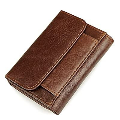 RFID Blocking Genuine Leather Wallet Trifold Travel Credit Card Wallets Men's