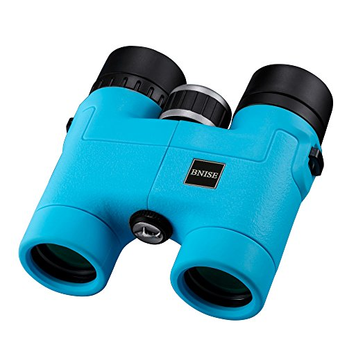BNISE - 8X32 Compact Binoculars for Bird Watching - Lightweight Magnesium Alloy Body - FMC Optics and Phase Coated BaK-4 Prisms - Bright and Undistorted Image - Blue (Lightweight Magnesium Body)