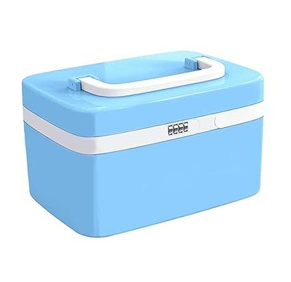 Caja de almacenamiento con cerradura de seguridad,cajas plasticas con tapa de maquillaje con 7