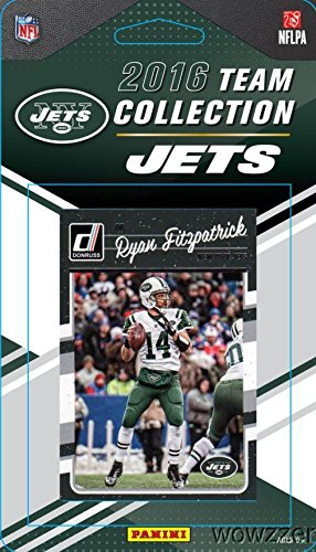 New York Jets 2016 Donruss NFL Football Factory Sealed Limited Edition 11 Card Complete Team Set with Darrelle Revis, Ryan Fitzpatrick, Legend JOE NAMATH & Many More! Shipped in Bubble Mailer!