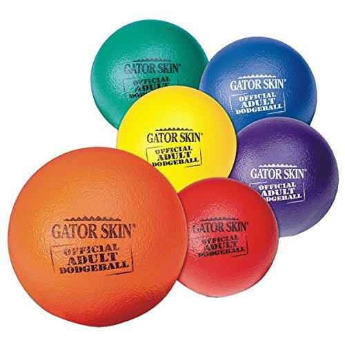 S&S Worldwide UA801-6C Gator Skin Official Adult Dodgeball, (Pack of 6) by S&S Worldwide