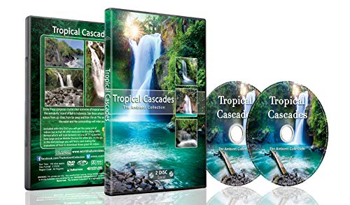 - Tropical Cascades - 2 DVD Set of Waterfalls - 2 Hours of Tropical Waterfalls From Around the World with Real Waterfall and Water Sounds - Perfect to Relax with and Soothing for Bedtime