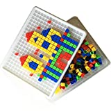 Itian 420 Pieces Mosaic Puzzle Intellect Toy Pegboard Jigsaw Puzzle Block Building Game for Kids Kindergarten Educational Toys for kid over 3 years old