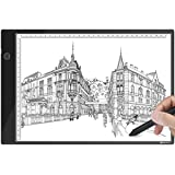 A4 Ultra-Thin LED Light Tracer Portable Dimmable LED Artcraft Tracing Light Pad with USB Power Cable for Artists Drawing Sketching Animation Designing Stenciling