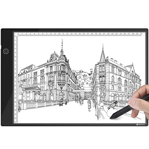 A4 Ultra-Thin LED Light Tracer Portable Dimmable LED Artcraft Tracing Light Pad with USB Power Cable for Artists Drawing Sketching Animation Designing Stenciling by YUNLIGHTS
