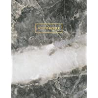Notebook: Gray and White Marble and Quartz with Gold Lettering - Marble & Gold Journal | 150 College-ruled Pages | 8.5 x 11 - A4 Size (Marble and Gold ... - Journal, Notebook, Diary, Composition Book)