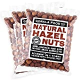 Gorilla Food Co. Hazelnuts (Filberts) Raw Whole - 3 Packs (1 Pound each) Resealable Bags