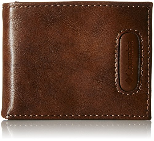 Columbia Men's Rfid Blocking Passcase Wallet With Inlaid Logo Patch